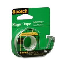 "3M Scotch Magic Transparent Tape with Handheld Dispenser - 0.75"" (19 mm) Width x 25 ft (7.6 m) Length - Writable Surface - 1 Each - Clear"