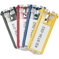 DURABLE Key Clip - Plastic - 6 / Pack - Assorted