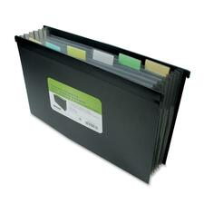 "Winnable Legal Hanging Folder - 8 1/2"" x 14"" - 7 Pocket(s) - Black"