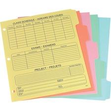 """Oxford Plain Tab Index Divider - 5 Tab(s)/Set - 8.50"""" Divider Width x 11"""" Divider Length - Letter - Buff Divider - 5 / Set"""