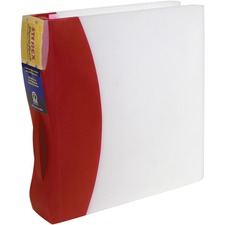 """Storex Duratech Frosted Poly Round Ring Presentation Binder - 2"""" Binder Capacity - 350 Sheet Capacity - 3 x Round Ring Fastener(s) - Poly - Spine Label, Dirt Resistant, Scratch Resistant, Moisture Resistant, Chemical Resistant, Durable, Handle - 1 Each"""