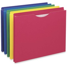 "Pendaflex Expanadable File Jacket - Letter - 1 1/2"" Expansion - Assorted - Recycled - 10 / Pack"