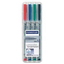 Lumocolor Universal Non-permanent Marker - Extra Fine Marker Point - 0.4 mm Marker Point Size - Refillable - Assorted Water Based Ink - Polypropylene Barrel - 4 / Set