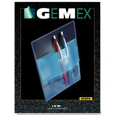 Gemex Clear Pocket Protectors - Clear - Vinyl - 50 / Pack