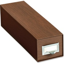 "Pendaflex Drawer Style Card Index Box - External Dimensions: 5"" Width x 3"" Height - Heavy Duty - Walnut - For Card - 1 Each"