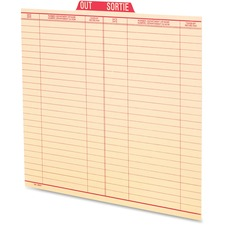 Pendaflex Oxford Vertical Out Guide - Letter - Red Tab(s) - 100 / Box