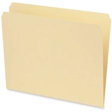 Pendaflex Straight Cut File Folder - Letter - 9.5 pt. Folder Thickness - Manila - Recycled - 100 / Box