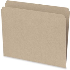 Pendaflex Straight Cut File Folder - Letter - 10.5 pt. Folder Thickness - Sand - Recycled - 100 / Box
