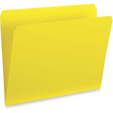 """Pendaflex Letter Recycled Top Tab File Folder - 8 1/2"""" x 11"""" - Yellow - 100 / Box"""