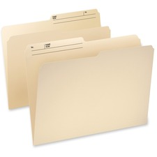 "Pendaflex Cutless Watershed Top Tab File Folder - Legal - 8 1/2"" x 14"" Sheet Size - 1/3 Tab Cut - Top Tab Location - 11 pt. Folder Thickness - Manila - Recycled - 100 / Box"