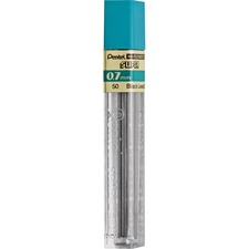 Pentel Super Hi-Polymer Leads - 0.7 mmMedium Point - 2B - Black - 12 / Tube