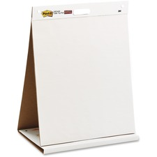 "3M Post-it Tabletop Easel Pad - 20 Sheets - Plain - 18 lb Basis Weight - 20"" x 23""20"" (508 mm) - White Paper - Bleed Resistant - 1Each"