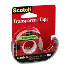 "Scotch Cellulose Transparent Tape - 36 yd (32.9 m) Length x 0.50"" (12.7 mm) Width - 3"" Core - 1 Each"