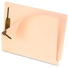 "Pendaflex Smart Shield End Tab Fastener Folders - Letter - 8 1/2"" x 11"" Sheet Size - 2 Fastener(s) - 2"" Fastener Capacity - 11 pt. Folder Thickness - Manila - Manila - 50 / Box"