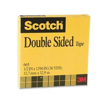 "3M Scotch Double-Coated Tape - 0.47"" (12 mm) Width x 36.1 yd (33 m) Length - 3"" Core - Non-yellowing, Photo-safe - 1 Each - Clear"