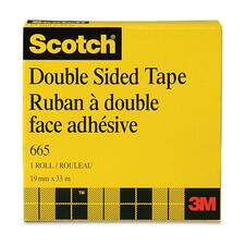"3M Scotch Double-Coated Tape - 0.71"" (18 mm) Width x 36.1 yd (33 m) Length - 3"" Core - Non-yellowing, Photo-safe - 1 Each - Clear"