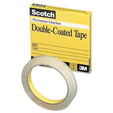 "Scotch 665-6M33 Double-Coated Transparency Tape - 0.24"" (6 mm) Width x 36.1 yd (33 m) Length - 3"" Core - Double-sided, Photo-safe - 1 Each"