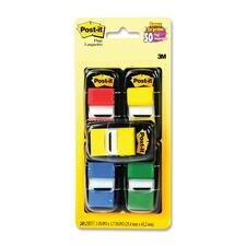 """3M Value Pack Flag - 1"""" - Rectangle - Assorted - Removable - 1 Pack"""