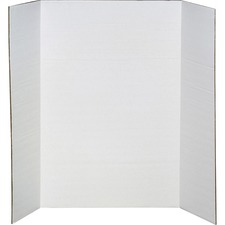 "Elmer's Corrugated Display Boards - ClassRoom Project, Presentation - 36"" x 48"" - 1 / Each - White"