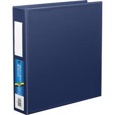 "Avery® EZD Ring Binder - 1 1/2"" Binder Capacity - 8 1/2"" x 11"" Sheet Size - D-Ring Fastener(s) - Poly - Navy - 1 Each"
