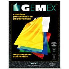 "Gemex Letter Storage Folder - 8 1/2"" x 11"" - Polypropylene - Yellow - 10 / Pack"