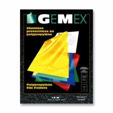 "Gemex Legal Storage Folder - 8 1/2"" x 14"" - Polypropylene - Clear - 10 / Pack"