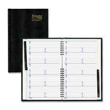 Blueline Telephone & Address Book - Twin Wirebound - Recycled - 1 Each