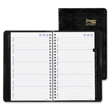 Blueline Trilingual Index Telephone/Address Books - Twin Wirebound - Recycled - 1 Each