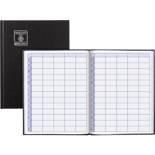 """Blueline Undated Appointment Book - Daily - 8:00 AM to 8:45 PM - Quarter-hourly - 9"""" x 12"""" Sheet Size - Black - Appointment Schedule, Trilingual, Hard Cover - 1 Each"""