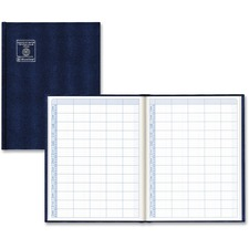 "Blueline Undated Appointment Book - Daily - 8:00 AM to 8:45 PM - 9"" x 12"" - Blue - Trilingual, Hard Cover"