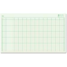"Blueline Large Columnar Pad - 50 Sheet(s) - 14"" x 8 1/4"" Sheet Size - 12 Columns per Sheet - Green Sheet(s) - Blue Cover - Recycled - 1 Each"