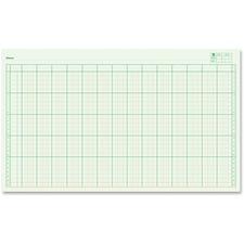 "Blueline Large Columnar Pad - 50 Sheet(s) - 14"" x 8 1/4"" Sheet Size - 14 Columns per Sheet - Green Sheet(s) - Blue Cover - Recycled - 1 Each"