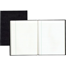 """Blueline Hardbound Executive Notebooks - 150 Sheets - Perfect Bound - Ruled - 9 1/4"""" x 7 1/4"""" - White Paper - Black Cover - Hard Cover - Recycled"""