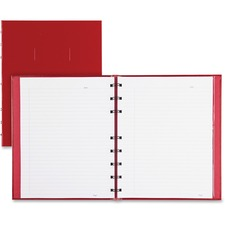 """Blueline Notepro Hard Cover Composition Book - 192 Sheets - Front Ruling Surface - 9 5/8"""" x 7 5/8"""" - White Paper - Hard Cover - Recycled - 1Each"""
