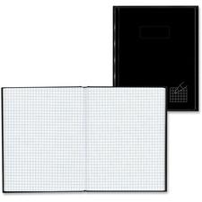 """Blueline Hardbound Quad Ruled Composition Book - 9.25"""" (234.95 mm) x 7.25"""" (184.15 mm) - Black"""