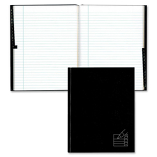 """Blueline Indexed Composition Book - 9.25"""" (234.95 mm) x 7.25"""" (184.15 mm) - 1 Each - Black, White"""