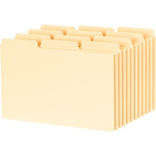"Oxford Blank Index Card File Guide - 5"" Tab Height x 3"" Tab Width - Manila Tab(s) - 100 / Pack"