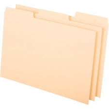 """Oxford Blank Index Card File Guide - 8"""" Tab Height x 5"""" Tab Width - Manila Tab(s) - 100 / Pack"""