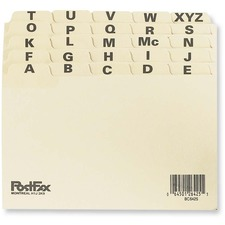 "Oxford Index Card File Guide - Printed Tab(s) - Character - A-Z - 4"" Divider Width x 6"" Divider Length - Manila Divider - 1 Pack"