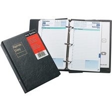 "Blueline Brownline Daily Appointment Book Refill - Yes - Daily - January 2019 till December 2019 - 7:00 AM to 7:30 PM - 1 Day Single Page Layout - 5 1/2"" x 8 1/2"" - Appointment Schedule, Reference Calendar, Expense Form, Tear-off, Address Directory, Phone"