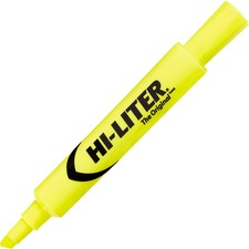 Avery® Hi-Liter Desk Style Highlighter - Chisel Marker Point Style - Fluorescent Yellow - 1 Each