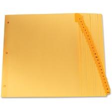 "Oxford Preprinted Laminated Tab Index Divider - Printed Tab(s) - Character - A-Z - 8.50"" Divider Width x 11"" Divider Length - Buff Divider - Mylar Tab(s) - 26 / Set"