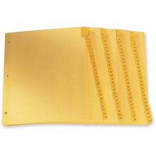 "Oxford Laminated Tab Index Divider - Printed Tab(s) - Digit - 1-100 - 8.50"" Divider Width x 11"" Divider Length - Letter - Buff Plastic Tab(s) - 100 / Set"