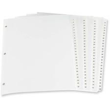 "Oxford Laminated Tab Index Divider - Printed Tab(s) - Digit - 1-100 - 8.50"" Divider Width x 11"" Divider Length - Letter - White Plastic Tab(s) - 100 / Set"