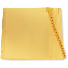 "Oxford Laminated Tab Index Divider - Printed Tab(s) - Digit - 1-31 - 8.50"" Divider Width x 11"" Divider Length - Letter - Buff Plastic Tab(s) - 31 / Set"