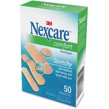 3M Nexcare Comfort Strips Bandage - 50/Box