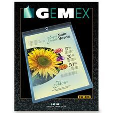 "Gemex Letter Vinyl File Pocket - 8 1/2"" x 11"" - Vinyl, Metal - Clear - 1 / Box"