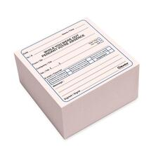 "Blueline Bilingual Message Cube Pad - 512 Sheet(s) - 4"" x 4"" Sheet Size - Pink Sheet(s) - 1 Each"