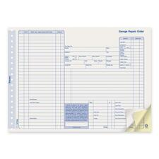 "Blueline Repair Order Form - 50 Sheet(s) - 3 Part - Carbonless Copy - 11"" x 8 1/2"" Sheet Size - 50 / Pack"