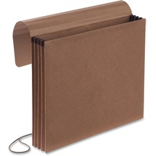 "Pendaflex Expandable Envelope - Letter - 8 1/2"" x 11"" Sheet Size - Red Fiber, Leather - Recycled - 1 Each"